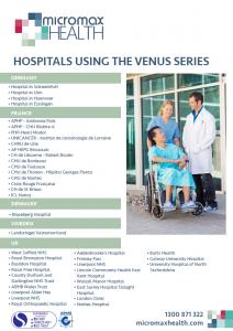 Hospitals using the Onyx Venus series internationally