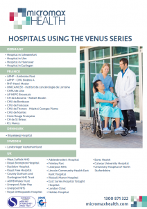 Hospitals using the Onyx Venus series internationally